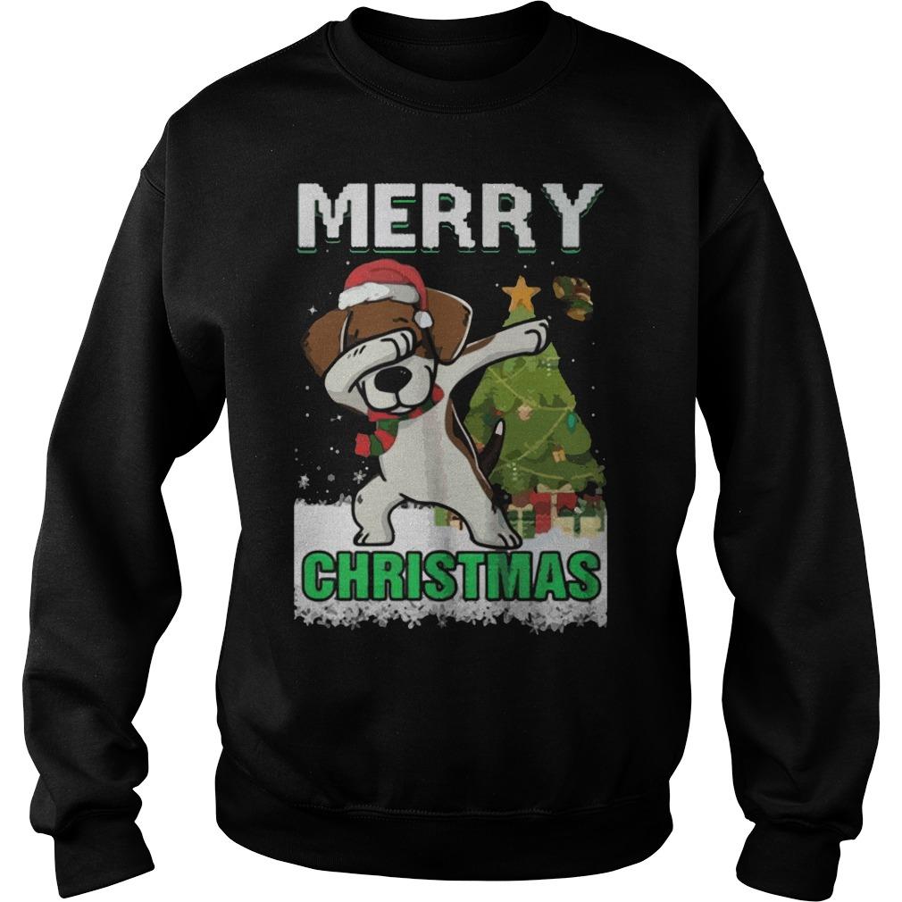 Dabbing Beagle Claus Merry Christmas Sweater