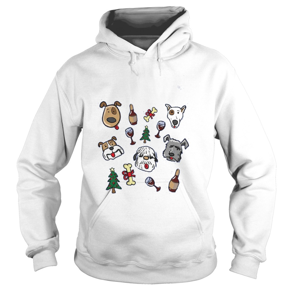 All I Want For Christmas Is Dogs And Wine Hoodie