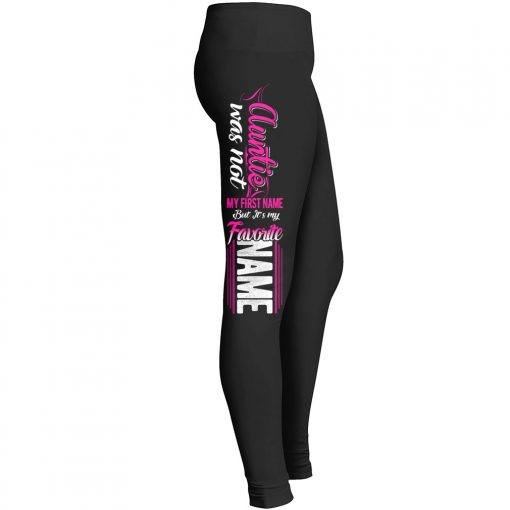 Auntie Not First Name Favorite Name Leggings