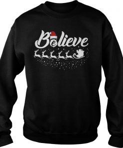 Believe Best Santa Ugly Christmas Sweat Shirt