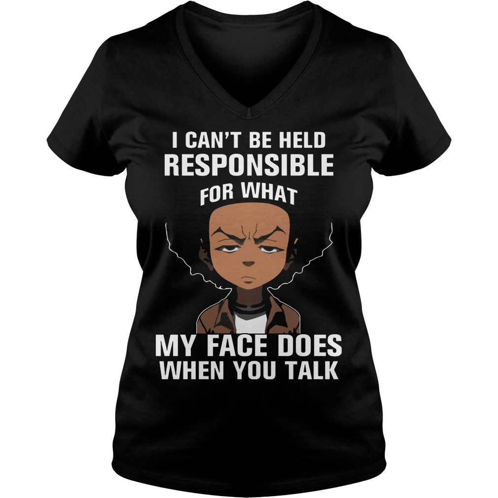 Boondocks Cant Held Responsible Face Talk Vneck