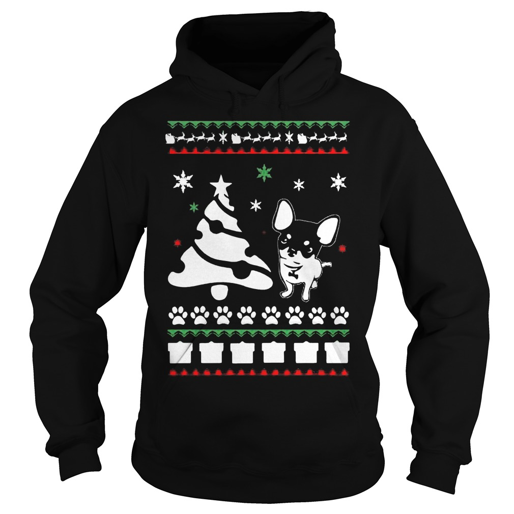chihuahua ugly christmas sweater hoodie sweater longsleeve t shirt. Black Bedroom Furniture Sets. Home Design Ideas
