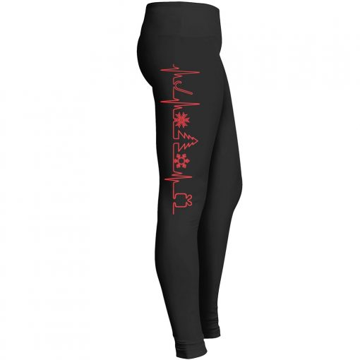 Christmas Tree Heartbeat Leggings