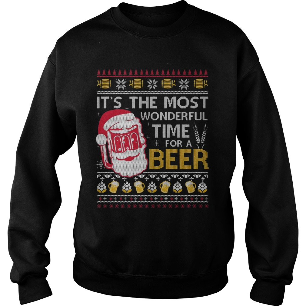 Christmas Wonderful Time Beer Sweater