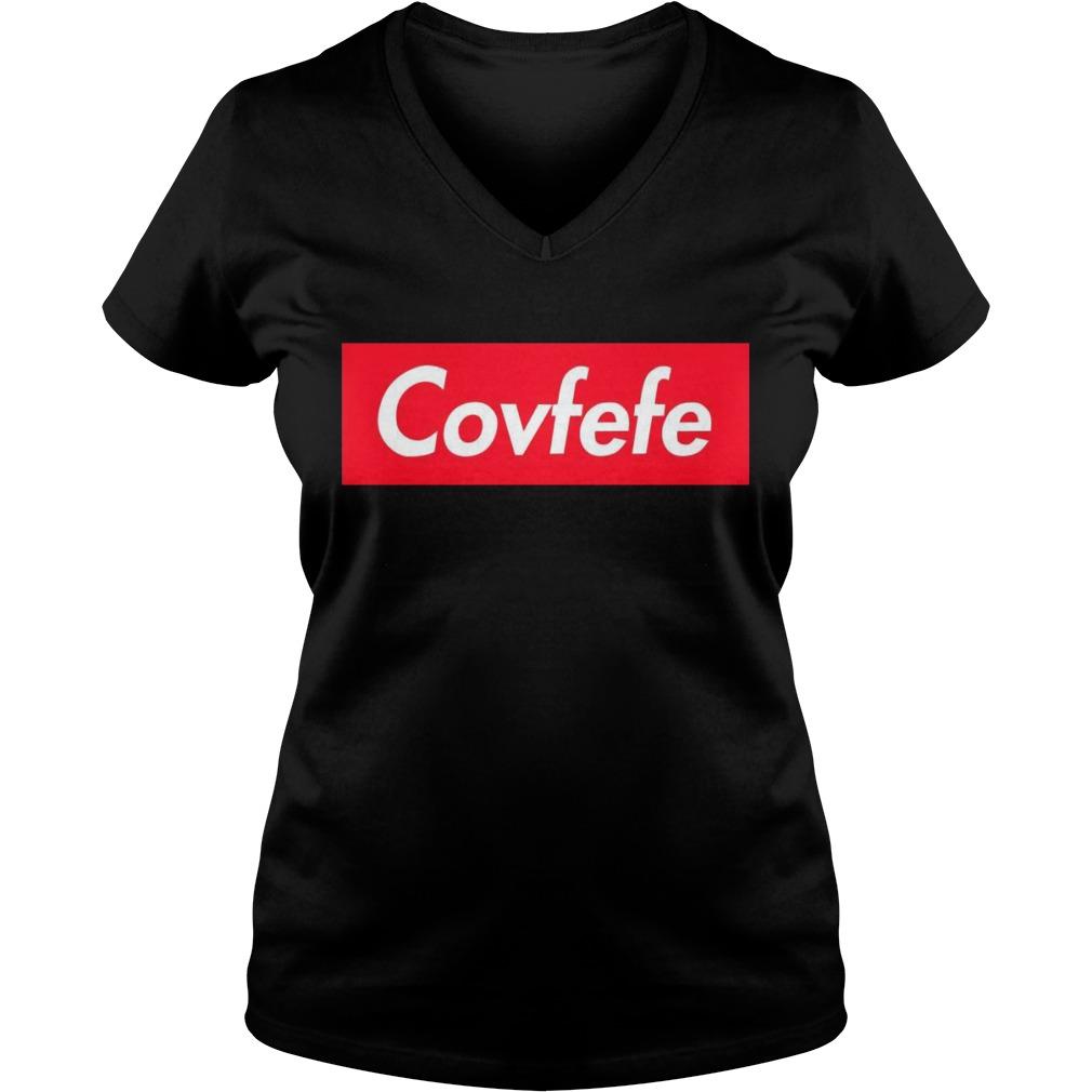 Covfefe Supreme Logo Box V Neck