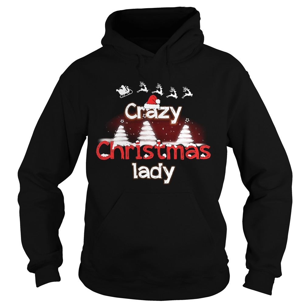 Crazy Christmas Lady Sweat Hoodie