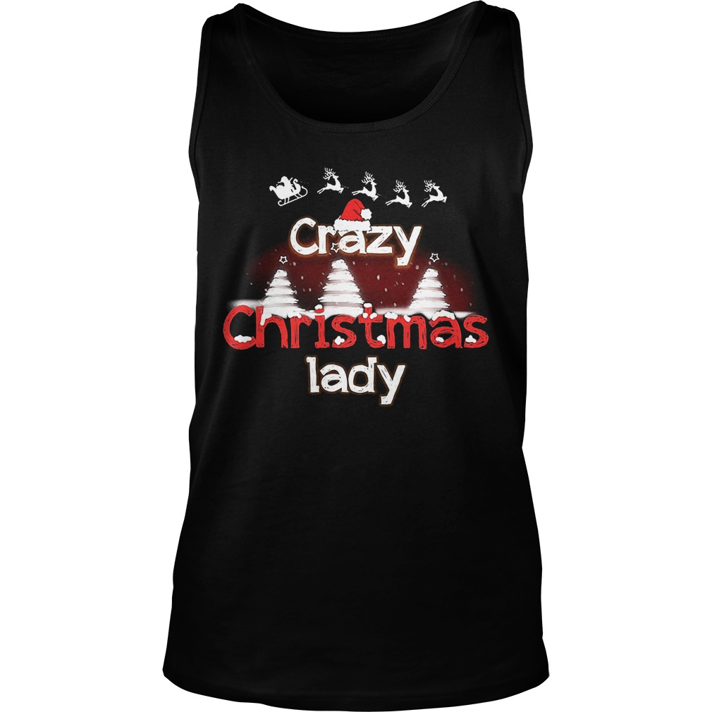 Crazy Christmas Lady Sweat Tank Top