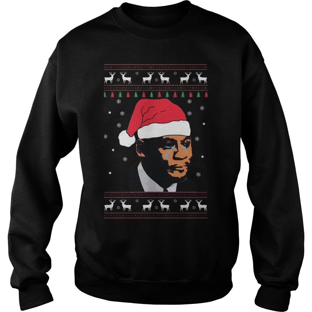 Crying Jordan Christmas Sweat Shirt