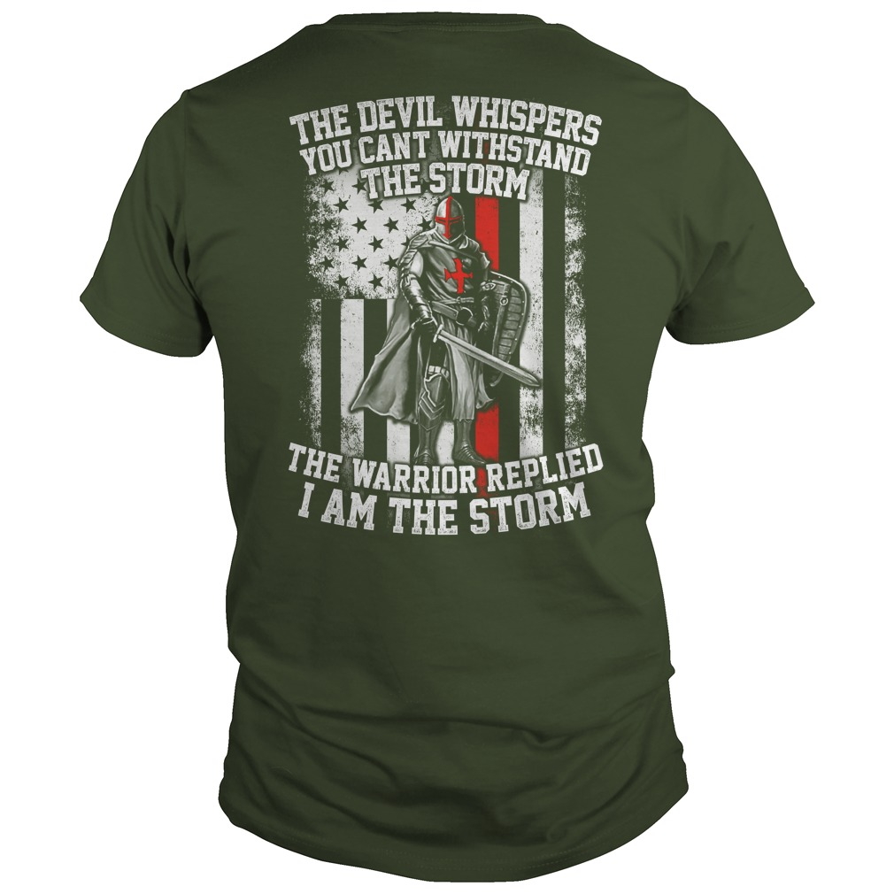 Devil Whispers Cant Withstand Storm Warrior Replied Storm Vneck