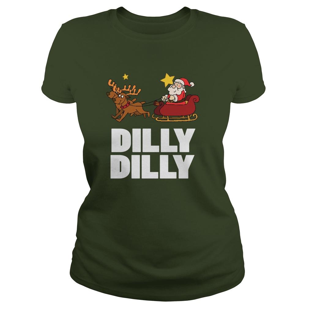 Dilly Dilly Santa Clauss Reindeer Sweat Ladies Tee