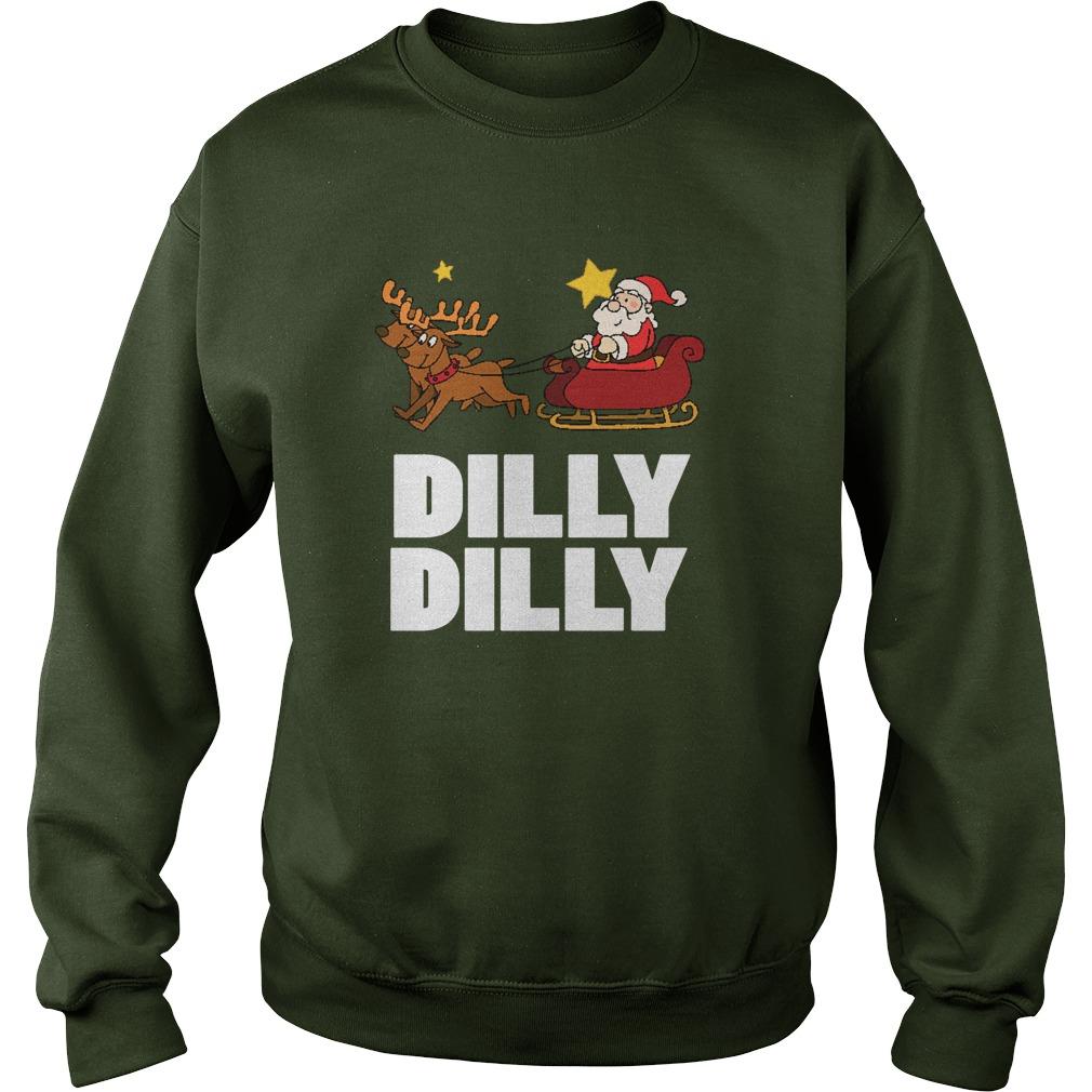 Dilly Dilly Santa Clauss Reindeer Sweat Longsleeve Tee
