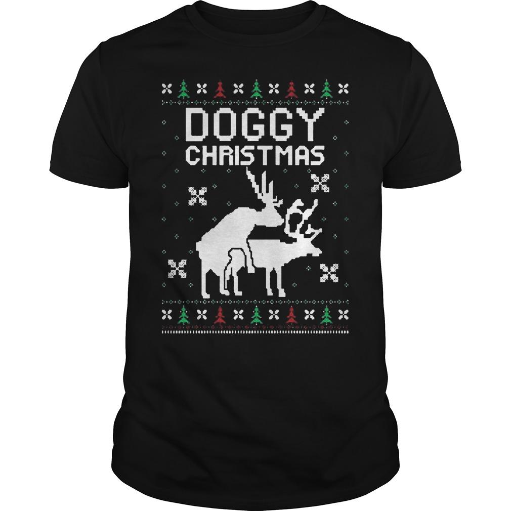 Doggy Ugly Christmas Sweater Hoodie Sweater Longsleeve Guys Tee