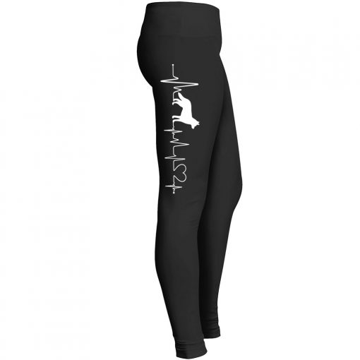 German Shepherd Heartbeat Leggings