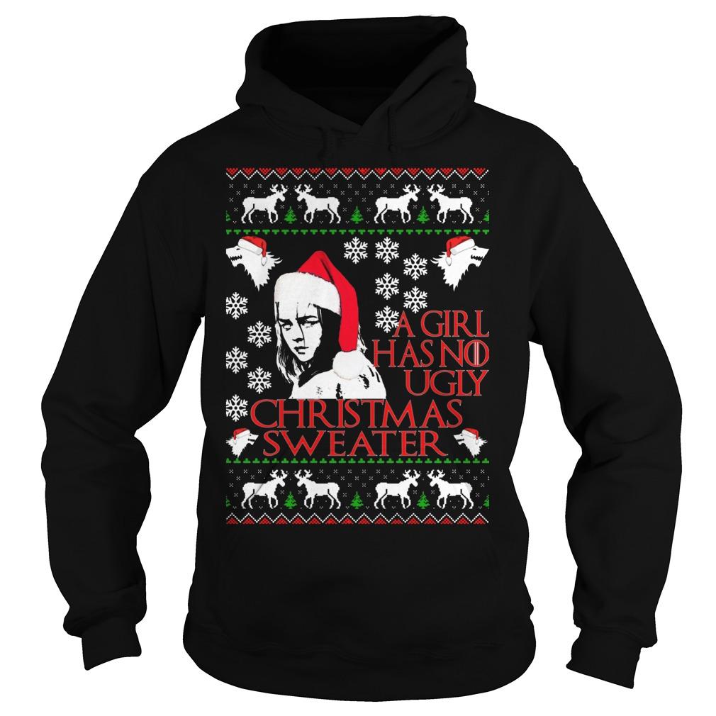 Girl No Ugly Christmas Sweater Hoodie