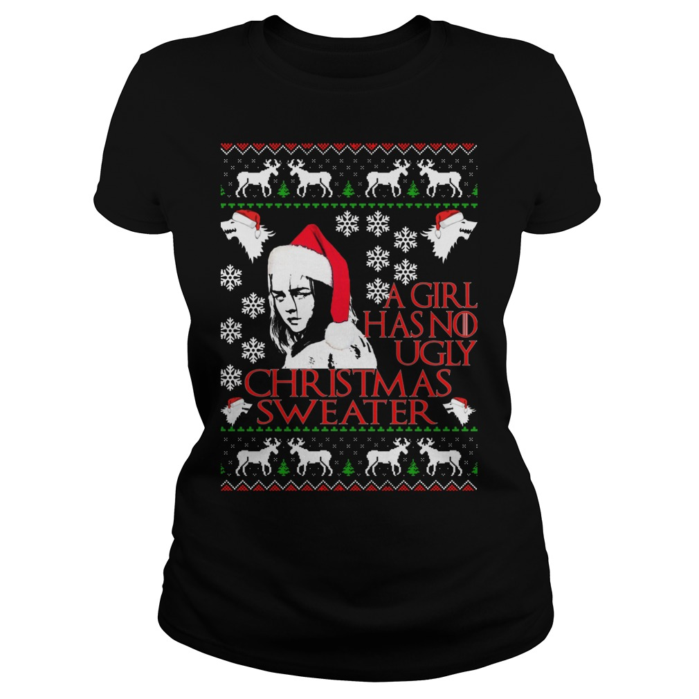 Girl No Ugly Christmas Sweater Ladies
