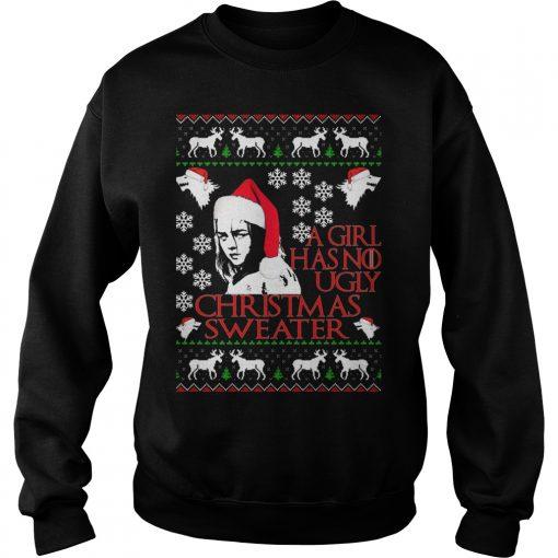 Girl No Ugly Christmas Sweater Sweatshirt