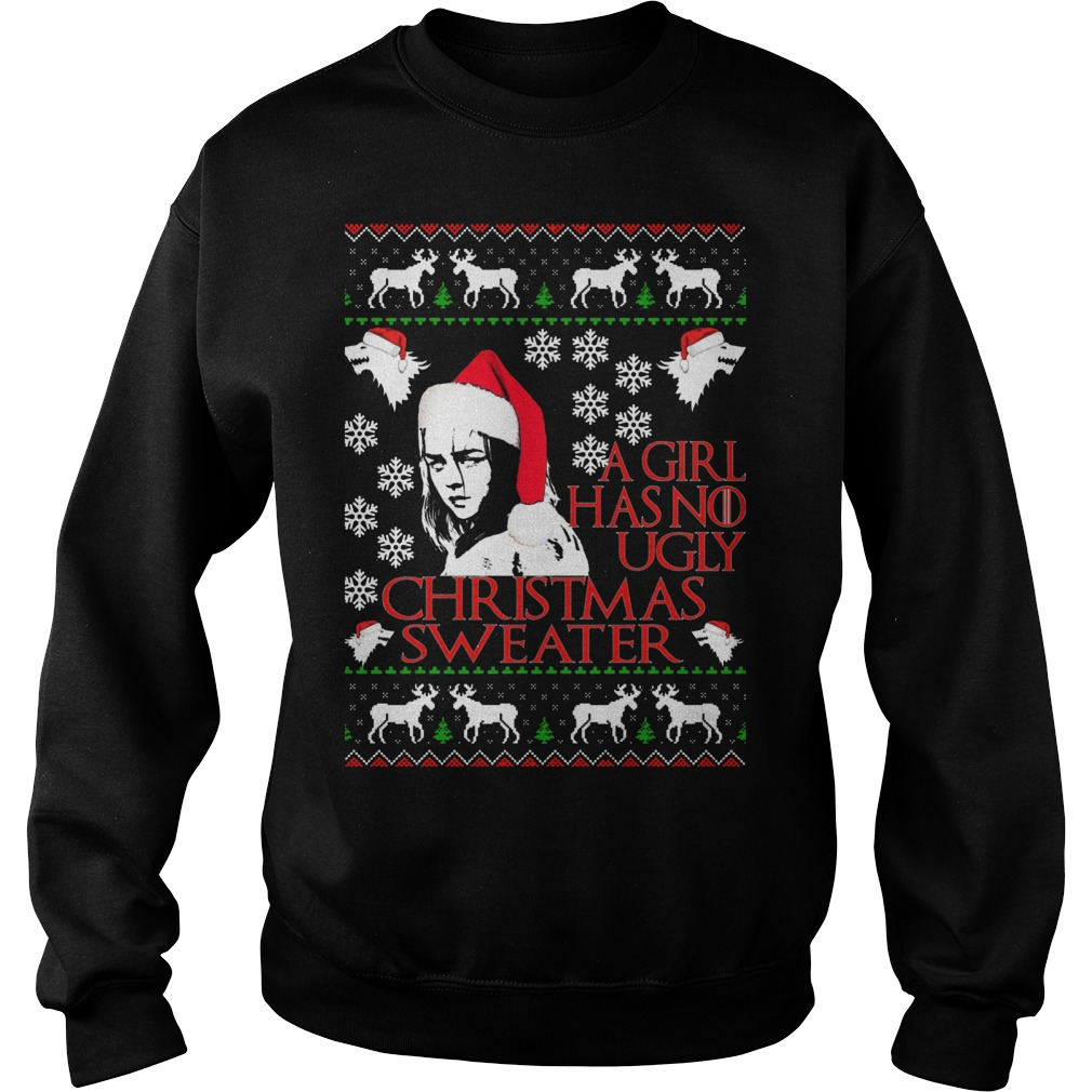 Girl No Ugly Christmas Sweater Sweatshirt