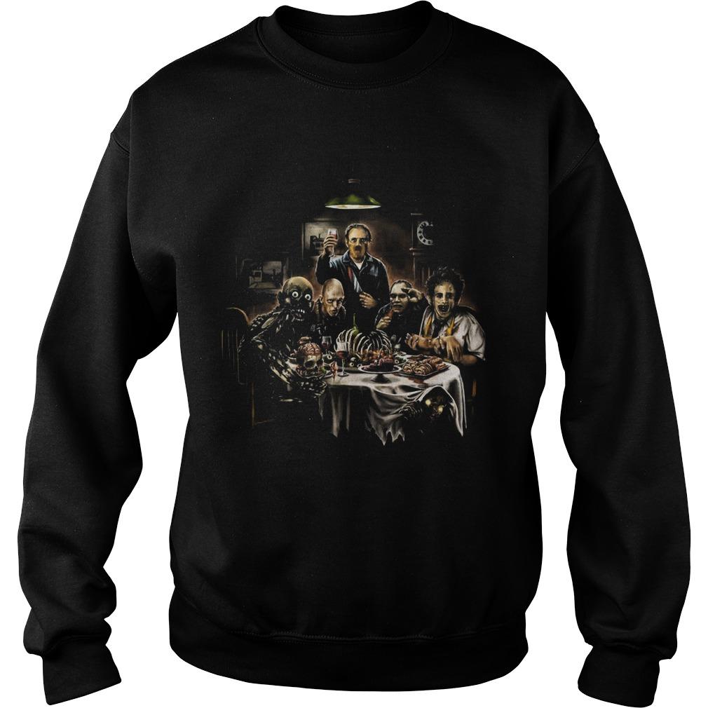 Horror Cannibal Thanksgiving Dinner Sweater
