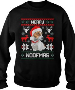 Jack Russell Terrier Dog Merry Woofmas Christmas Sweater