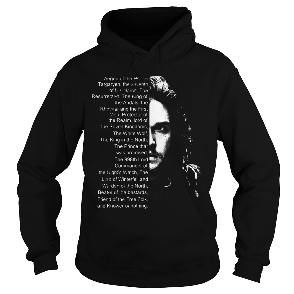 Jon Snow List Name Aegon House Hoodie