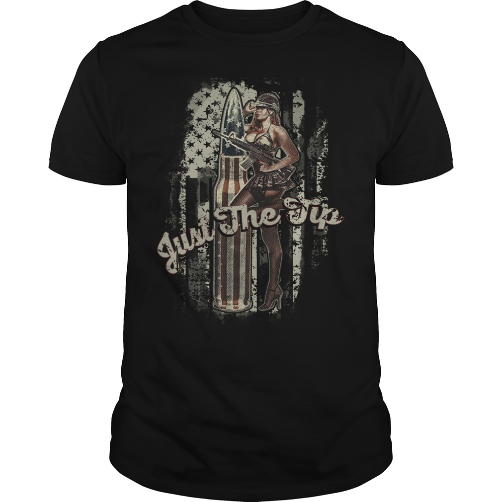 Just Tip American Flag Girl Shirt