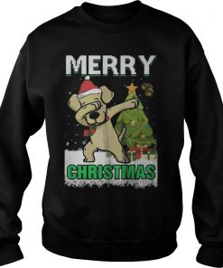 Labrador Dabbing Santa Claus Merry Ugly Christmas Sweat Shirt