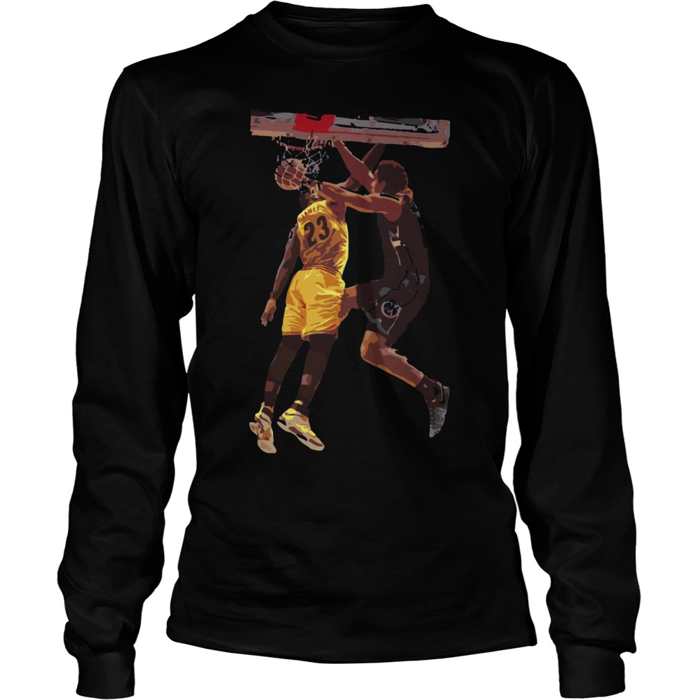 629d1a1e Malcolm brogdon dunk on lebron james shirt, hoodie, sweater, longsleeve