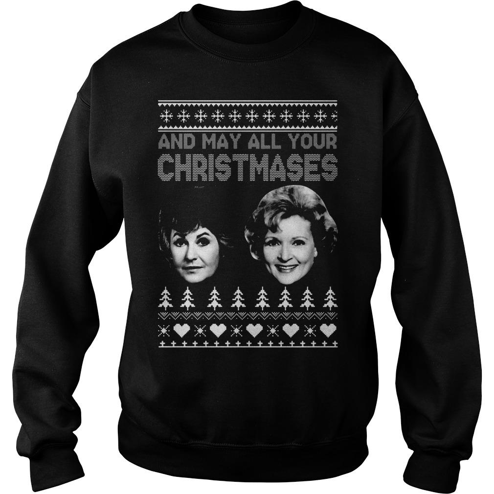 May Christmases Bea White Sweat Shirt