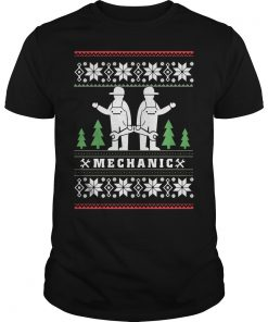 Mechanic Ugly Christmas Guys Tee