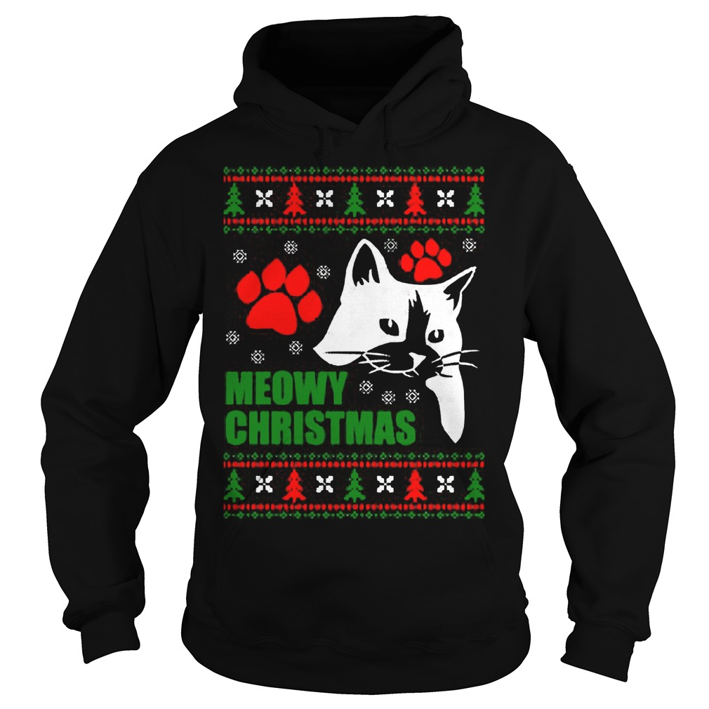Meowy Ugly Christmas Hoodie