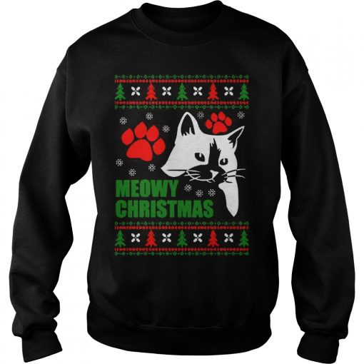 Meowy Ugly Christmas Sweat Shirt