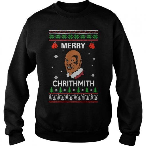 Mike Tyson Merry Chrithmith Christmas Sweat Shirt