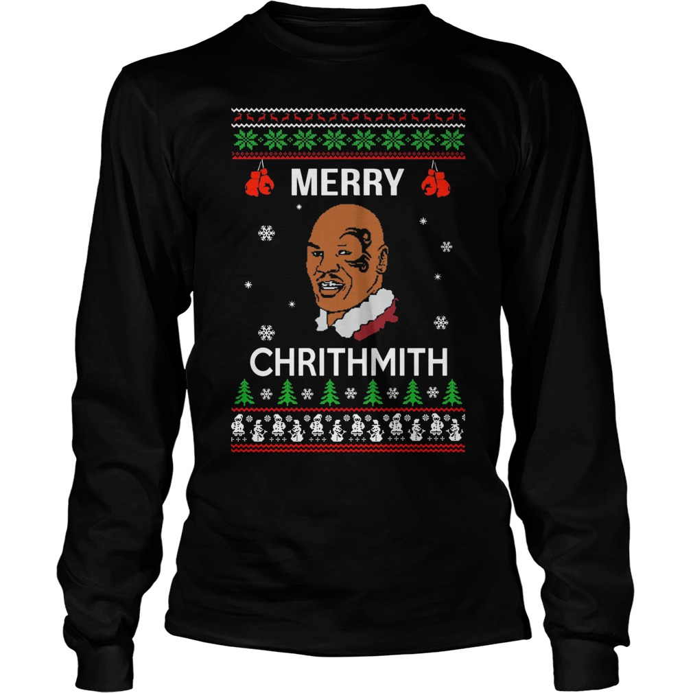 Mike Tyson Merry Chrithmith Christmas Unisex Longsleeve Tee