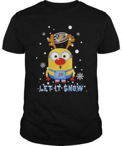 Minion Anaheim Ducks Ugly Christmas Sweater Let Snow Guys Tee