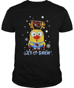 Minion Arizona Cardinal Ugly Christmas Sweater Let It Snow Guys Tee