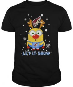 Minion Arizona Coyotes Ugly Christmas Sweater Let Snow Guys Tee