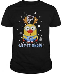 Minion Atlanta Falcons Ugly Christmas Sweater Let It Snow Guys Tee