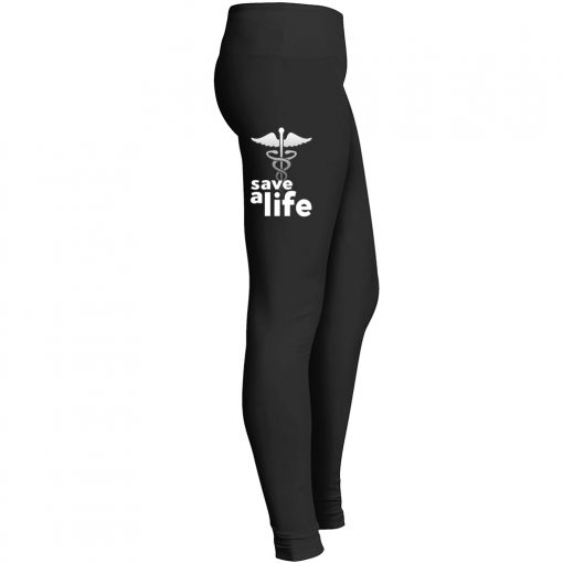 Nurse Symbol Save Life Leggings