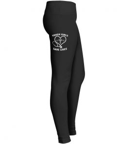 Nurse Tough Girl Save Lives Leggings