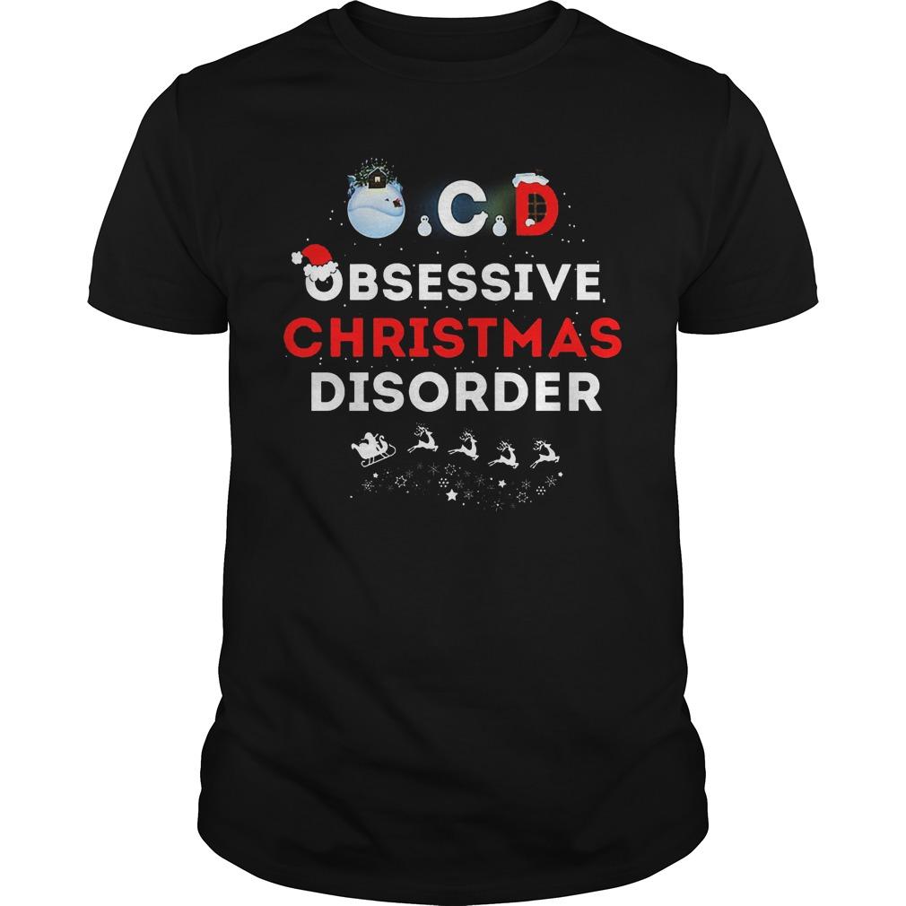 Obsessive Ugly Christmas Disorder Guys Tee