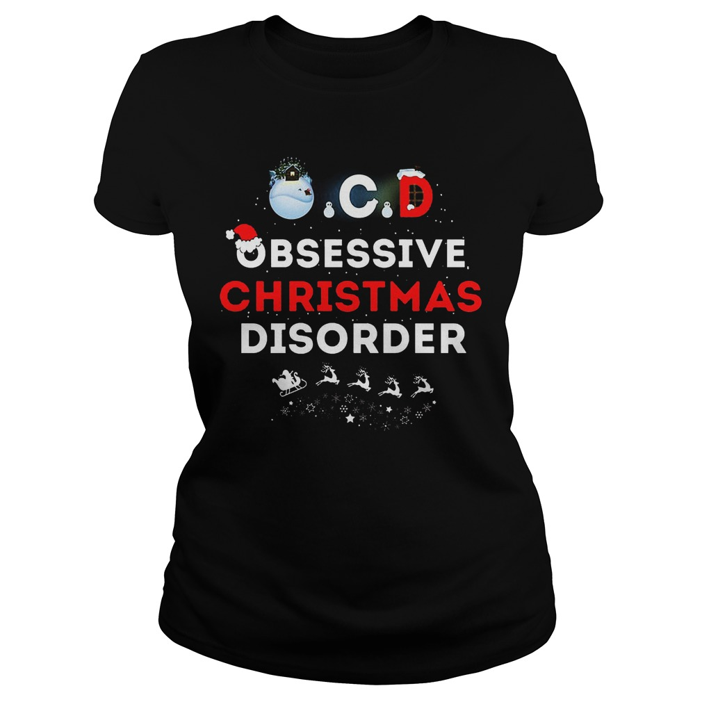 Obsessive Ugly Christmas Disorder Ladies Tee