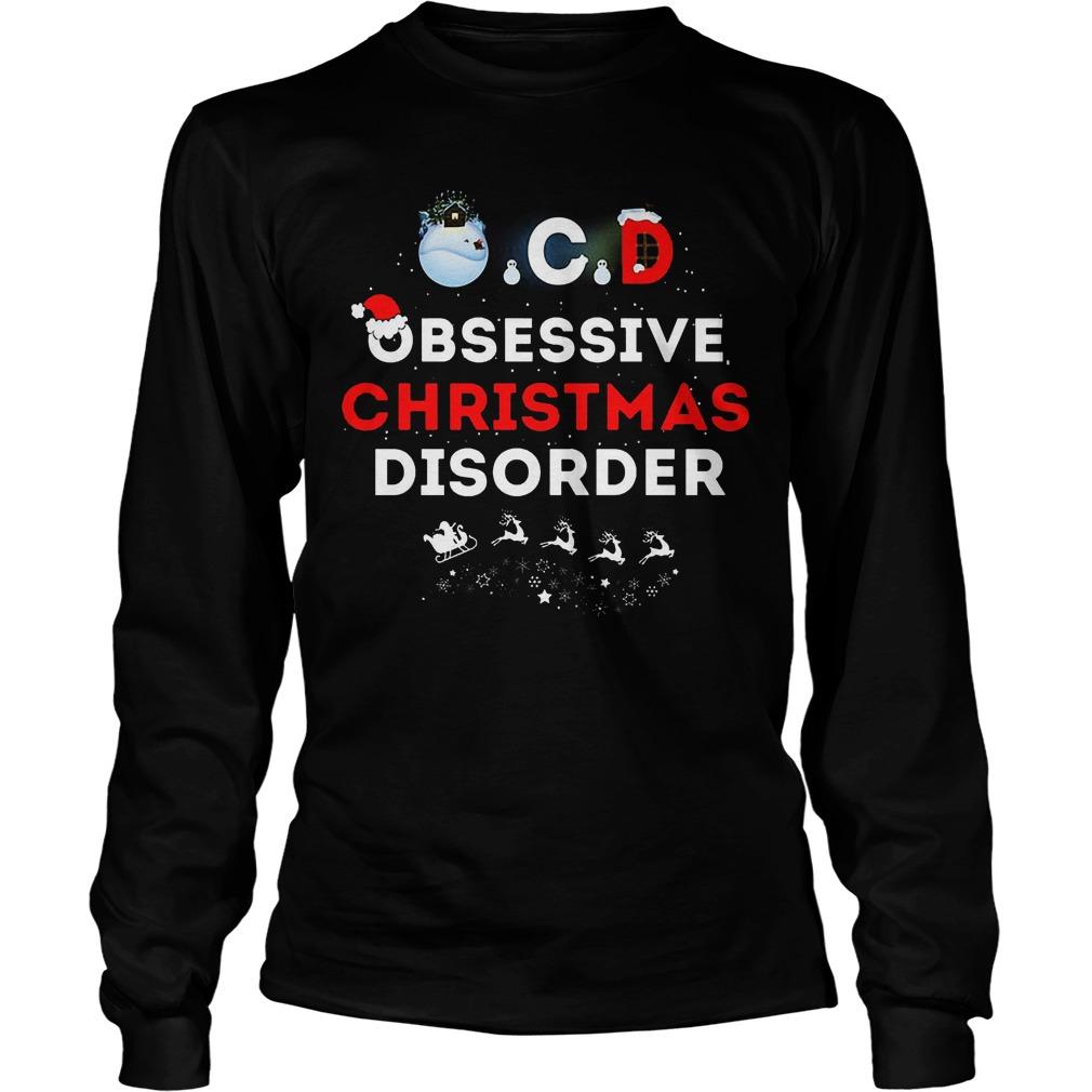 Obsessive Ugly Christmas Disorder Unisex Longs;leeve Tee