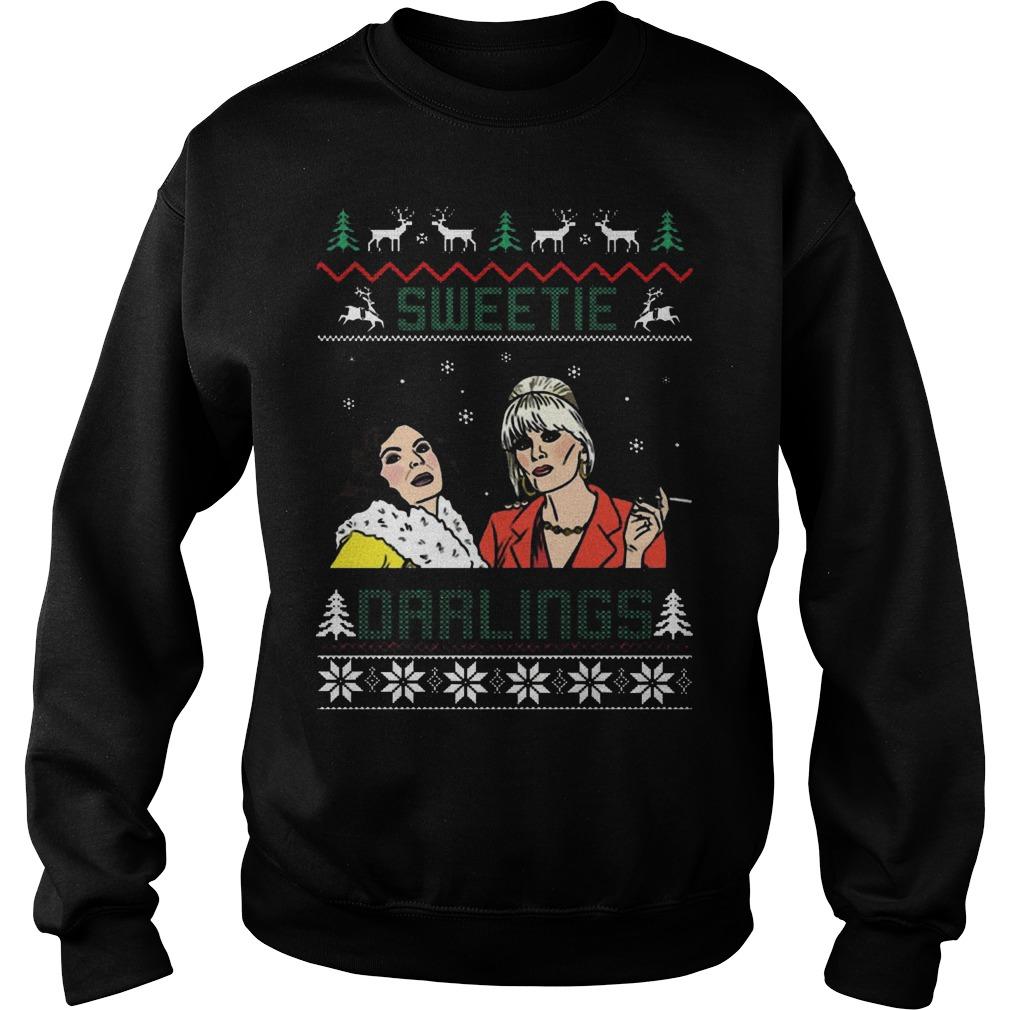 Patsy Edina Sweetie Darling Christmas Sweat Shirt