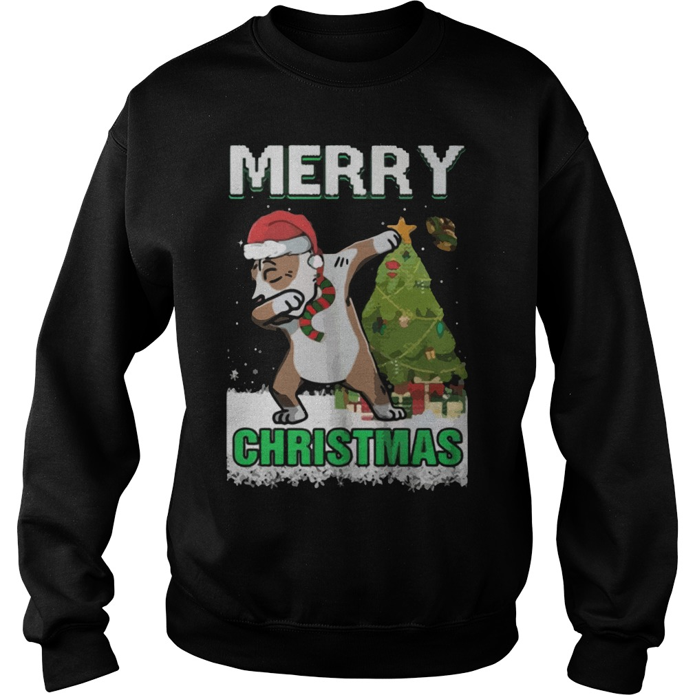Pitpull Dabbing Claus Merry Ugly Christmas Sweat Shirt