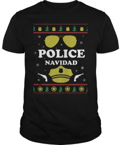Police Navidad Christmas Guys Tee