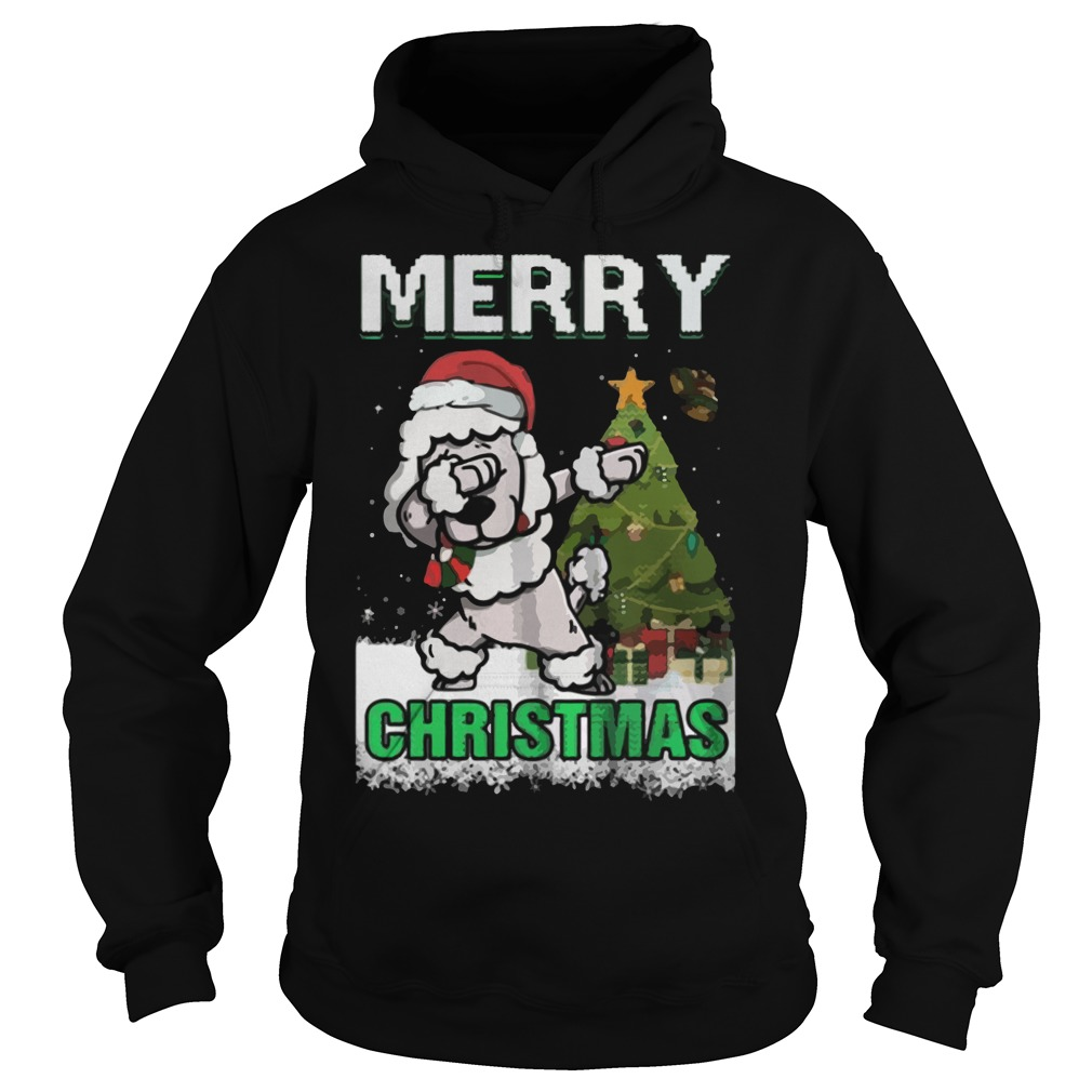 Poodle Claus Dabbing Merry Ugly Christmas Hoodie
