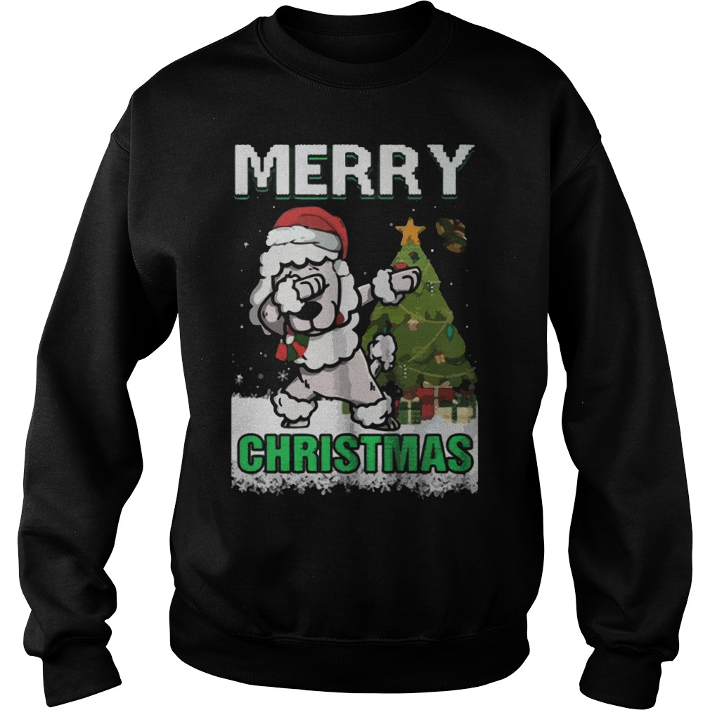 Poodle Claus Dabbing Merry Ugly Christmas Sweat Shirt