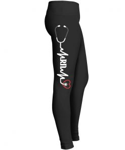 Registered Nurse Heartbeat Leggings