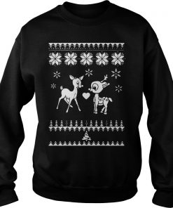 Rudolph And Clarice Ugly Christmas Sweat Shirt