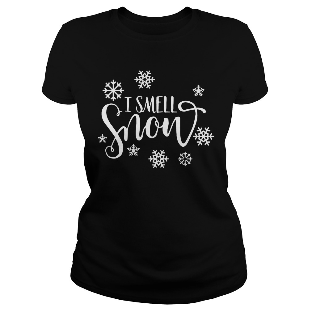 Snowfall Smell Snow Sweat Shirt Hoodie Sweater Longsleeve Ladies Tee